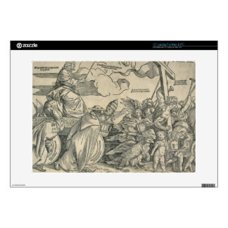 Triumph of Christ (wood engraving) Laptop Decals