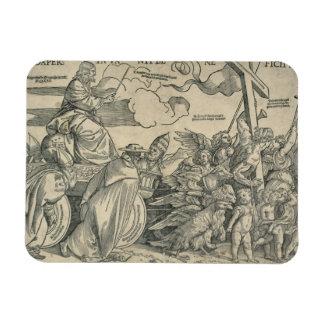 Triumph of Christ wood engraving Vinyl Magnets