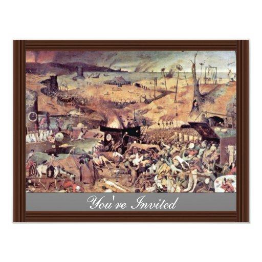 Triumph Of Death By Bruegel D. Ä. Pieter 4.25x5.5 Paper Invitation Card