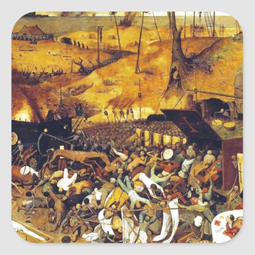 Triumph of Death (by Pieter Bruegel) Square Stickers
