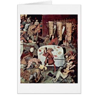 Triumph Of Death Detail By Bruegel A. Pieter Greeting Card