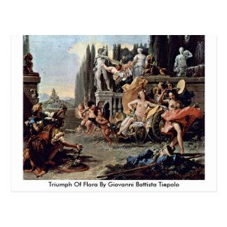 Triumph Of Flora By Giovanni Battista Tiepolo Postcards