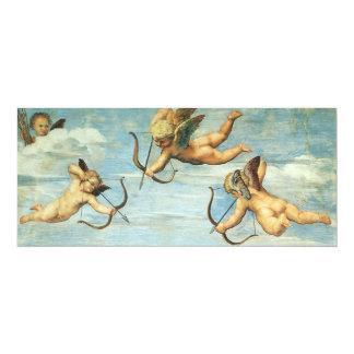 Triumph of Galatea, Angels detail by Raphael 4x9.25 Paper Invitation Card