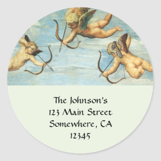 Triumph of Galatea, Angels detail by Raphael Classic Round Sticker