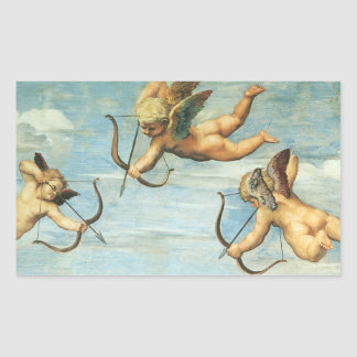 Triumph of Galatea, Angels detail by Raphael Rectangular Sticker