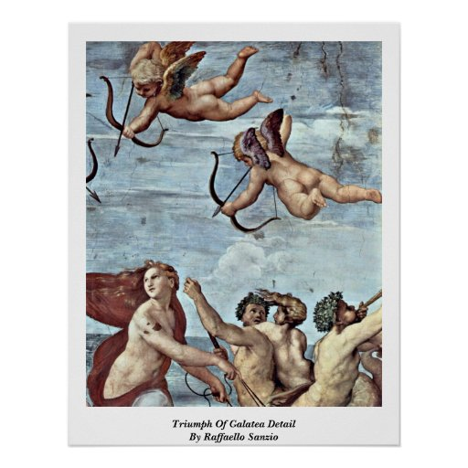 Triumph Of Galatea Detail By Raffaello Sanzio Poster