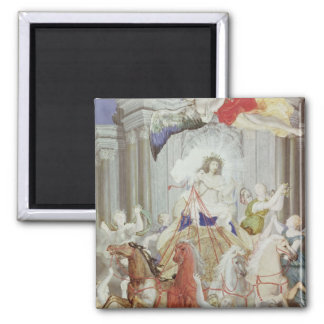 Triumph of King Louis XIV  of France Magnet