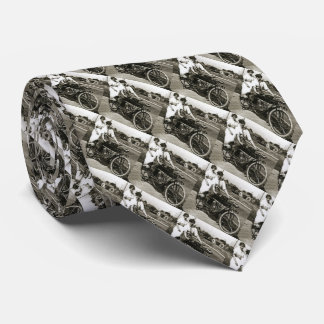 Triumph of Love Dating on a Motorcycle Vintage Neck Tie