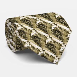 Triumph of Love Dating on a Motorcycle Vintage Tie