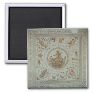 Triumph of Neptune and the Four Seasons 2 Inch Square Magnet