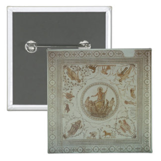 Triumph of Neptune and the Four Seasons 2 Inch Square Button