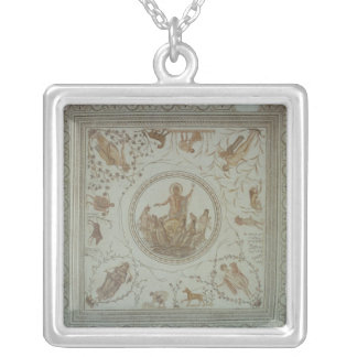 Triumph of Neptune and the Four Seasons Square Pendant Necklace