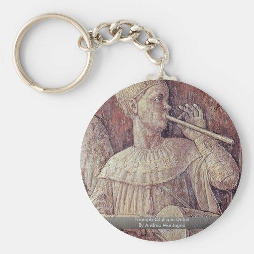 Triumph Of Scipio Detail By Andrea Mantegna Keychain