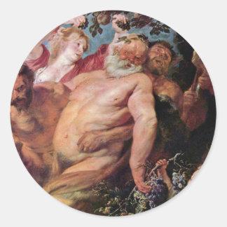 Triumph Of Silenus By Dyck Anthonis Van Sticker