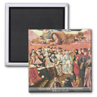 Triumph Of St. Thomas Aquinas On Averroes Detail 2 Inch Square Magnet