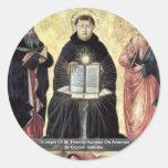 Triumph Of St. Thomas Aquinas On Averroes Round Sticker
