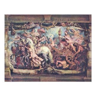 Triumph Of The Church Of Idolatry By Rubens Peter Custom Invitations