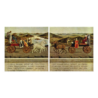 Triumph Of The Duke And Duchess Federico Da Montef Photo Card