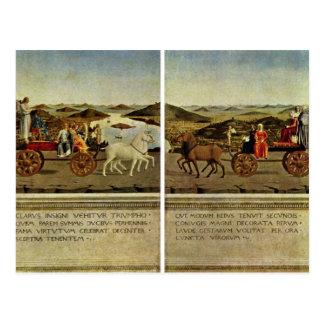 Triumph Of The Duke And Duchess Federico Da Montef Postcard