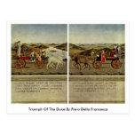 Triumph Of The Duke By Piero Della Francesca Post Cards