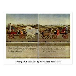 Triumph Of The Duke By Piero Della Francesca Postcard