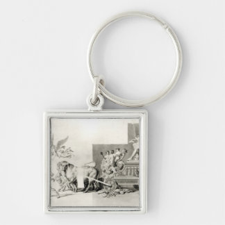 Triumph of the French People over the Monarchy Keychain