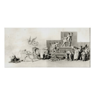 Triumph of the French People over the Monarchy Poster