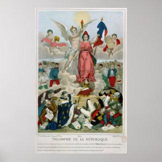 Triumph of the Republic, 1875 Poster