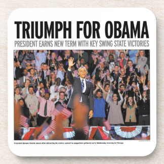 Triumph para Obama: Práctico de costa 2012 de Obam Posavasos De Bebidas