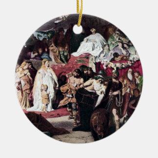 Triumph romano adorno navideño redondo de cerámica