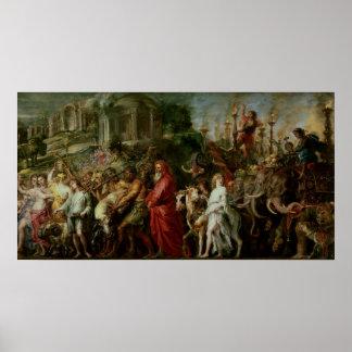 Triumph romano c 1630 poster
