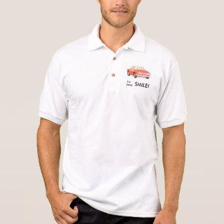Triumph Stag 'Eat sleep smile' shirt, red Polo Shirt