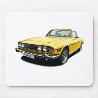 Triumph Stag - Yellow Mouse Pad