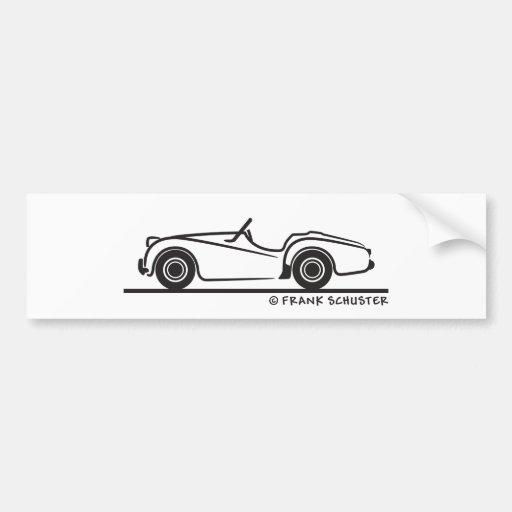 Triumph TR2 Bumper Sticker