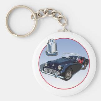 Triumph TR3 Basic Round Button Keychain