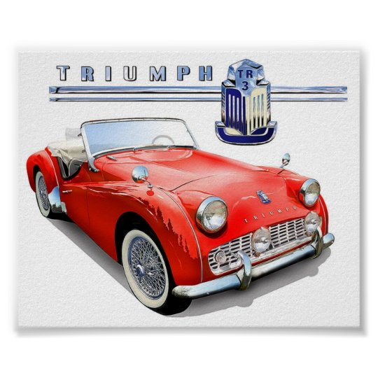 Triumph TR3 painting Poster