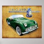 Triumph TR3 vintage roadster Poster