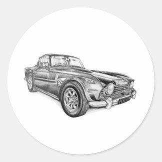 Triumph TR4 Classic Round Sticker
