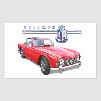 Triumph Tr4 Rectangular Sticker