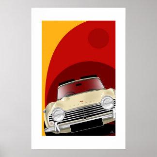 Triumph TR4A Poster Illustration