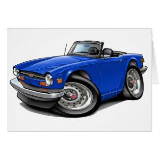 Triumph TR6 Blue Car Card