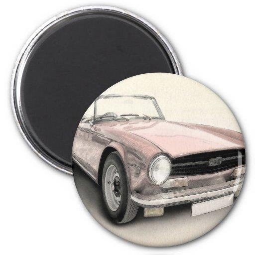 Triumph TR6 Fridge Magnet