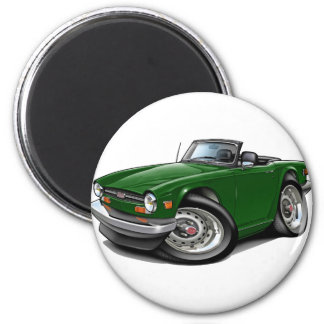 Triumph TR6 Green Car Magnet