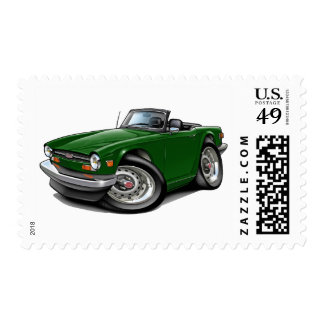 Triumph TR6 Green Car Postage Stamps