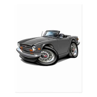 Triumph TR6 Grey Car Postcard
