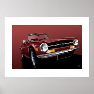 Triumph TR6 Poster