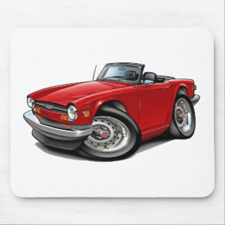 Triumph TR6 Red Car Mouse Pad