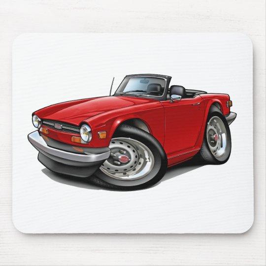 Triumph TR6 Red Car Mouse Pad
