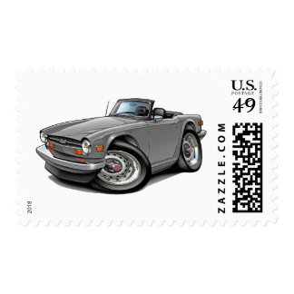 Triumph TR6 Silver Car Postage Stamps