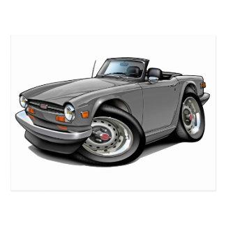 Triumph TR6 Silver Car Postcard